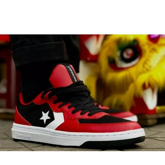 Converse Rival Low Shoes Red Black